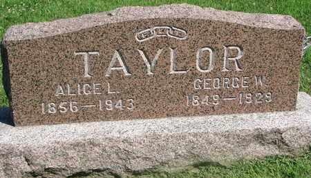 TAYLOR, ALICE L. - Burt County, Nebraska | ALICE L. TAYLOR - Nebraska Gravestone Photos