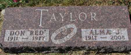 "TAYLOR, DON ""RED"" - Burt County, Nebraska   DON ""RED"" TAYLOR - Nebraska Gravestone Photos"