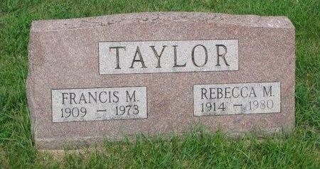 TAYLOR, FRANCIS M. - Burt County, Nebraska | FRANCIS M. TAYLOR - Nebraska Gravestone Photos