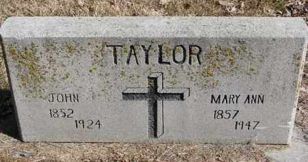 TAYLOR, MARY ANN - Burt County, Nebraska | MARY ANN TAYLOR - Nebraska Gravestone Photos