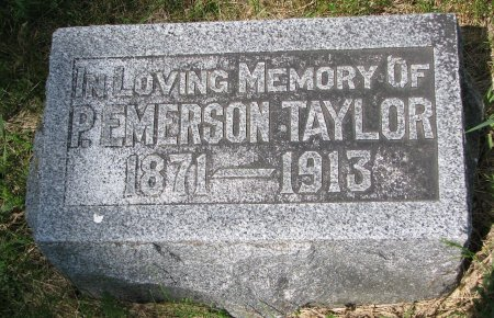 TAYLOR, P. EMERSON - Burt County, Nebraska   P. EMERSON TAYLOR - Nebraska Gravestone Photos