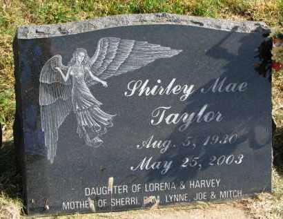 TAYLOR, SHIRLEY MAE - Burt County, Nebraska   SHIRLEY MAE TAYLOR - Nebraska Gravestone Photos