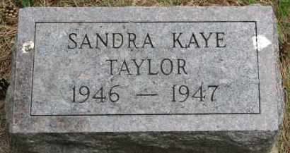 TAYLOR, SANDRA KAYE - Burt County, Nebraska | SANDRA KAYE TAYLOR - Nebraska Gravestone Photos
