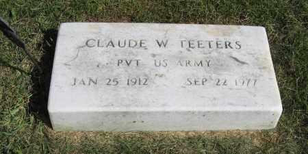 TEETERS, CLAUDE W. - Burt County, Nebraska | CLAUDE W. TEETERS - Nebraska Gravestone Photos