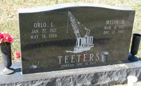 TEETERS, MELVA B. - Burt County, Nebraska | MELVA B. TEETERS - Nebraska Gravestone Photos