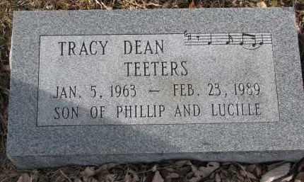 TEETERS, TRACY DEAN - Burt County, Nebraska | TRACY DEAN TEETERS - Nebraska Gravestone Photos