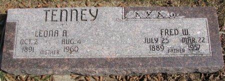TENNEY, LEONA A. - Burt County, Nebraska | LEONA A. TENNEY - Nebraska Gravestone Photos
