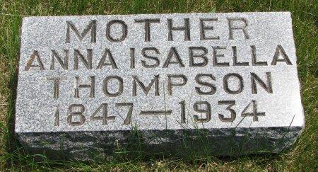DICKEY THOMPSON, ANNA ISABELLA - Burt County, Nebraska   ANNA ISABELLA DICKEY THOMPSON - Nebraska Gravestone Photos