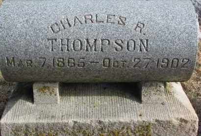 THOMPSON, CHARLES R. - Burt County, Nebraska | CHARLES R. THOMPSON - Nebraska Gravestone Photos