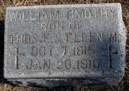 TIGHE, WILLIAM TIMOTHY - Burt County, Nebraska | WILLIAM TIMOTHY TIGHE - Nebraska Gravestone Photos