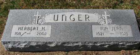 UNGER, HERBERT H. - Burt County, Nebraska | HERBERT H. UNGER - Nebraska Gravestone Photos