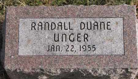 UNGER, RANDALL DUANE - Burt County, Nebraska | RANDALL DUANE UNGER - Nebraska Gravestone Photos