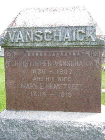 HEMSTREET VAN SCHAICK, MARY E. - Burt County, Nebraska   MARY E. HEMSTREET VAN SCHAICK - Nebraska Gravestone Photos