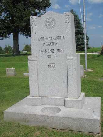 *VFW MEMORIAL, ANDREW CRANNELL POST #15 - Burt County, Nebraska | ANDREW CRANNELL POST #15 *VFW MEMORIAL - Nebraska Gravestone Photos