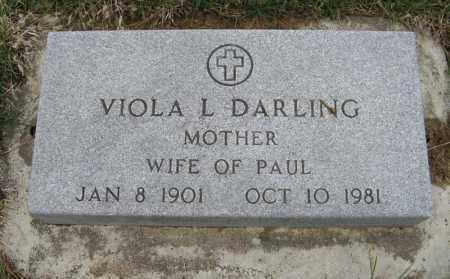 DARLING, VIOLA L. - Burt County, Nebraska | VIOLA L. DARLING - Nebraska Gravestone Photos