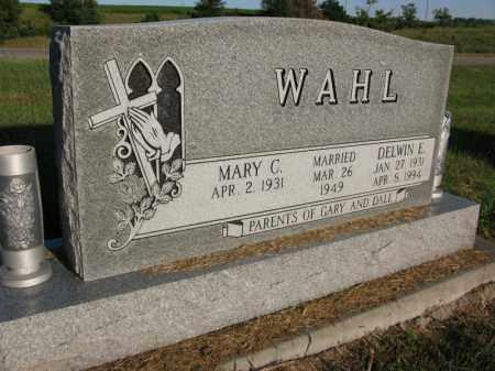 WAHL, DELWIN E. - Burt County, Nebraska | DELWIN E. WAHL - Nebraska Gravestone Photos