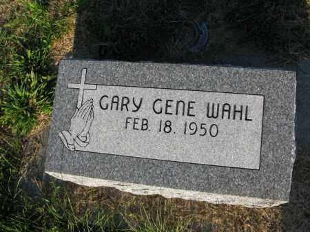 WAHL, GARY GENE - Burt County, Nebraska | GARY GENE WAHL - Nebraska Gravestone Photos