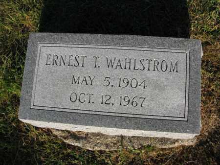 WAHLSTROM, ERNEST T. - Burt County, Nebraska   ERNEST T. WAHLSTROM - Nebraska Gravestone Photos