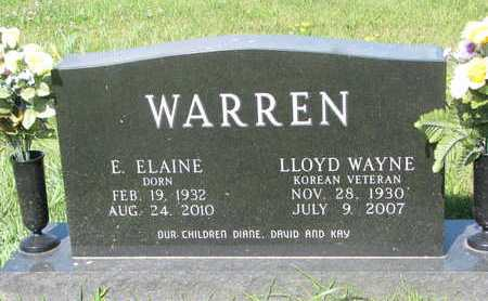 WARREN, LLOYD WAYNE - Burt County, Nebraska | LLOYD WAYNE WARREN - Nebraska Gravestone Photos