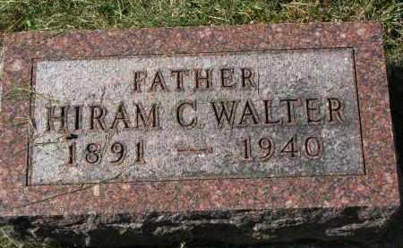 WALTER, HIRAM C. - Burt County, Nebraska | HIRAM C. WALTER - Nebraska Gravestone Photos