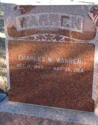 WARREN, CHARLES WILLIAM - Burt County, Nebraska   CHARLES WILLIAM WARREN - Nebraska Gravestone Photos