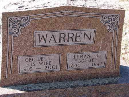 WARREN, CECILE L. - Burt County, Nebraska | CECILE L. WARREN - Nebraska Gravestone Photos