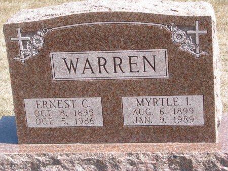 WARREN, MYRTLE I. - Burt County, Nebraska | MYRTLE I. WARREN - Nebraska Gravestone Photos
