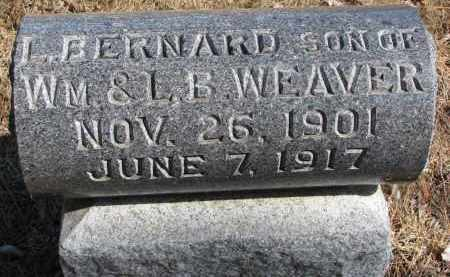 WEAVER, L. BERNARD - Burt County, Nebraska | L. BERNARD WEAVER - Nebraska Gravestone Photos