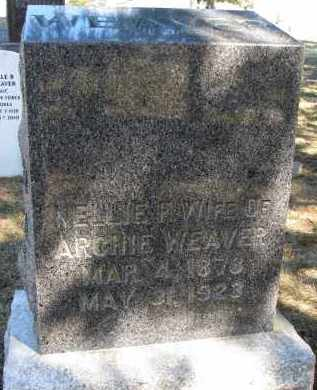 WEAVER, NELLIE F. - Burt County, Nebraska   NELLIE F. WEAVER - Nebraska Gravestone Photos