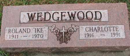 WEDGEWOOD, CHARLOTTE - Burt County, Nebraska | CHARLOTTE WEDGEWOOD - Nebraska Gravestone Photos