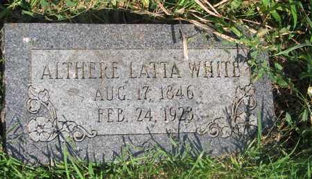 WHITE, ALTHERE - Burt County, Nebraska   ALTHERE WHITE - Nebraska Gravestone Photos