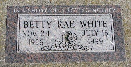WHITE, BETTY RAE - Burt County, Nebraska | BETTY RAE WHITE - Nebraska Gravestone Photos