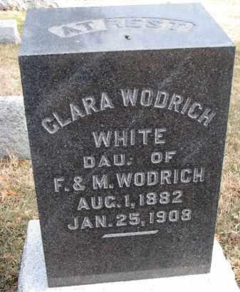 WHITE, CLARA - Burt County, Nebraska | CLARA WHITE - Nebraska Gravestone Photos