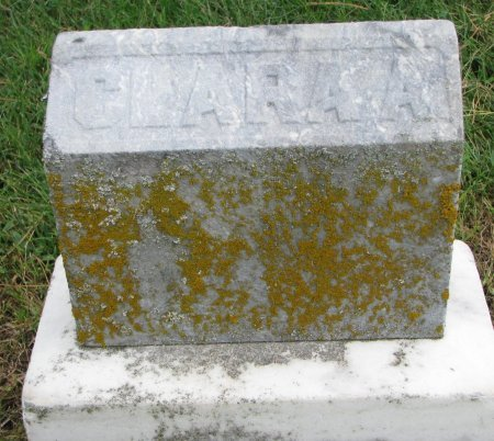 WHITE, CLARA A. (FOOT STONE) - Burt County, Nebraska | CLARA A. (FOOT STONE) WHITE - Nebraska Gravestone Photos