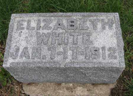 WHITE, ELIZABETH - Burt County, Nebraska   ELIZABETH WHITE - Nebraska Gravestone Photos