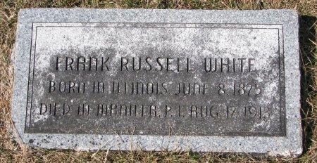 WHITE, FRANK RUSSELL - Burt County, Nebraska | FRANK RUSSELL WHITE - Nebraska Gravestone Photos