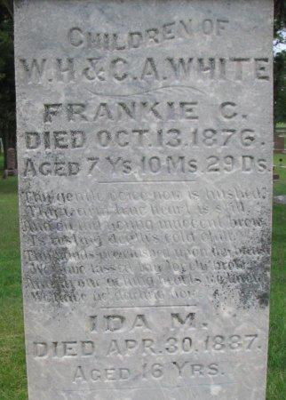 WHITE, IDA M. (CLOSE UP) - Burt County, Nebraska | IDA M. (CLOSE UP) WHITE - Nebraska Gravestone Photos