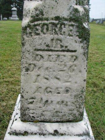 WHITE, GEORGE J. JR (CLOSE UP) - Burt County, Nebraska   GEORGE J. JR (CLOSE UP) WHITE - Nebraska Gravestone Photos