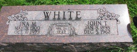 WHITE, JOHN T. - Burt County, Nebraska | JOHN T. WHITE - Nebraska Gravestone Photos