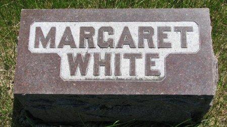 WHITE, MARGARET (FOOT STONE) - Burt County, Nebraska | MARGARET (FOOT STONE) WHITE - Nebraska Gravestone Photos
