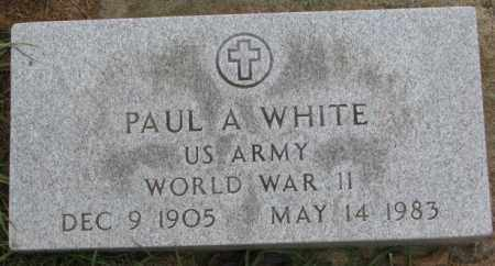 WHITE, PAUL A. - Burt County, Nebraska | PAUL A. WHITE - Nebraska Gravestone Photos