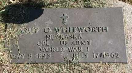 WHITWORTH, GUY O. (WW I) - Burt County, Nebraska   GUY O. (WW I) WHITWORTH - Nebraska Gravestone Photos