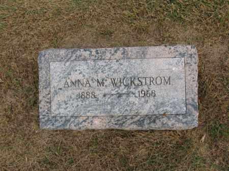 WICKSTROM, ANNA M. - Burt County, Nebraska   ANNA M. WICKSTROM - Nebraska Gravestone Photos