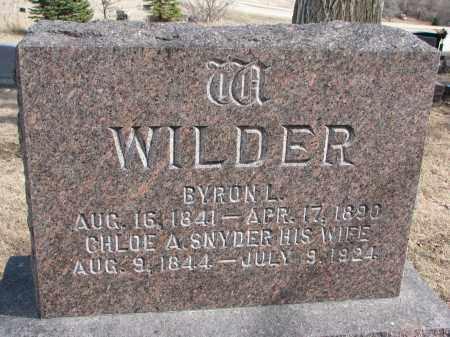SNYDER WILDER, CHLOE A. - Burt County, Nebraska   CHLOE A. SNYDER WILDER - Nebraska Gravestone Photos