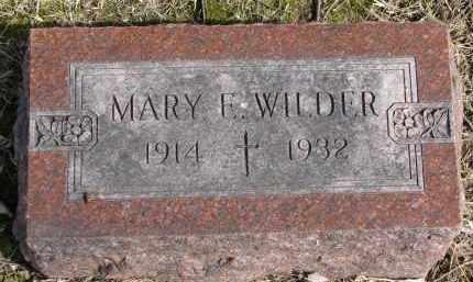 WILDER, MARY E. - Burt County, Nebraska   MARY E. WILDER - Nebraska Gravestone Photos