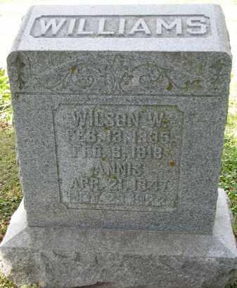 WILLIAMS, ANNIS - Burt County, Nebraska | ANNIS WILLIAMS - Nebraska Gravestone Photos