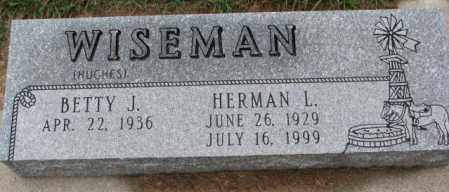 HUGES WISEMAN, BETTY J. - Burt County, Nebraska | BETTY J. HUGES WISEMAN - Nebraska Gravestone Photos