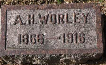 WORLEY, A.H. - Burt County, Nebraska | A.H. WORLEY - Nebraska Gravestone Photos