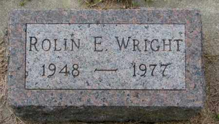 WRIGHT, ROLIN E. - Burt County, Nebraska   ROLIN E. WRIGHT - Nebraska Gravestone Photos