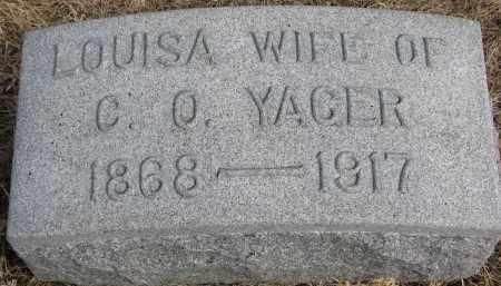 YAGER, LOUISA - Burt County, Nebraska | LOUISA YAGER - Nebraska Gravestone Photos